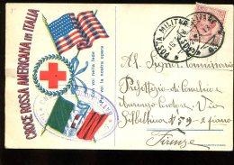 Croce Rossa Américana In Italia - Oblitération Poste Militaire Du 16-4-1918 - Red Cross