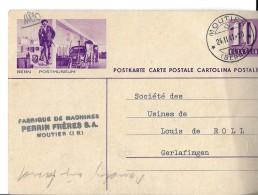 "26993 - Entier Postal Avec Illustration ""Bern Postmuseum"" Superbe Cachet à Date Moutier 1941 - Stamped Stationery"