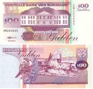 Suriname 100 Gulden 1998 Pick 139.b UNC - Surinam
