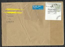 "GREAT BRITAIN 2016 Cover To Estonia Queen Elizabeth + Label From Estonian Postal Service ""Shipment Arrived Damaged"" - 1952-.... (Elizabeth II)"