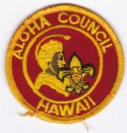 Aloha Council Honolulu Hawaii Area Boy Scout C1970s Vintage Uniform Cloth Patch - Scouting