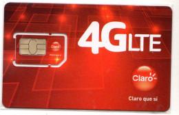 COSTA RICA CARTE GSM CLARO Verso Numeroté - Costa Rica