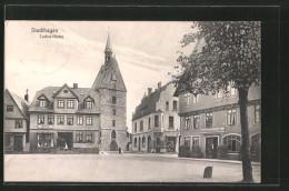 AK Stadthagen, Strassenpartie An Der Luther-Kirche - Stadthagen