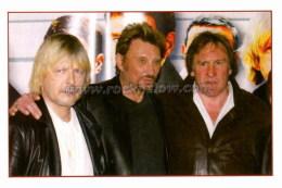 """Johnny HALLYDAY Carte Postale Moderne """" Avec Renaud Et Gérard Depardieu """" (EDC ST JH 78) - Chanteurs & Musiciens"""