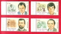 R* MOLDOVA 4 V. MNH FAMOUS PEOPLE 2016 - Celebrità