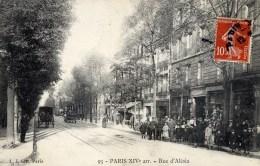PARIS  XIV ème  Rue D´Alésia Animée - District 14
