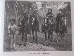 Gravure   1877  Amazones Des Iles Sandwich - United Kingdom