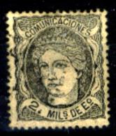 Spagna-042 - 1870 - Y&T N. 103 (o) Used - Carta Molto Spessa (cartoncino) - Privo Di Difetti Occulti - - 1870-72 Reggenza