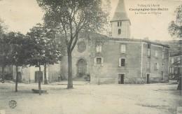 11 Campagne Les Bains, La Place Et L'Eglise, Cliché Pas Courant - Other Municipalities