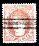 Spagna-075 - 1870 - Y&T N. 108 (o) Used - Privo Di Difetti Occulti - - 1873-74 Reggenza
