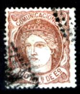 Spagna-076 - 1870 - Y&T N. 108 (o) Used - Privo Di Difetti Occulti - - 1873-74 Reggenza