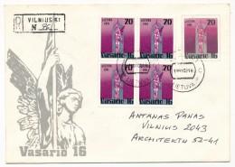 LITUANIE - 6 Enveloppes - Entiers Avec Affranchissements Complémentaires - 1990/1991 - Lituania