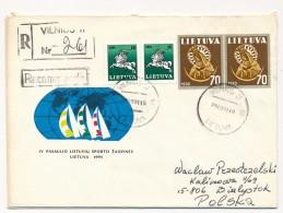 LITUANIE - 6 Enveloppes - Affranchissements Divers - 1990/1991 - Lituania