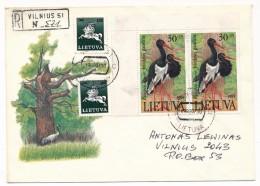 LITUANIE - 8 Enveloppes - Affranchissements Divers - Années 90 - Lituania