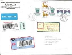 TCHEQUE REPUBLIQUE LETTRE RECOMMANDEE DE PRAGUE POUR LA SUISSE DU 13/4/2005 - Tchéquie