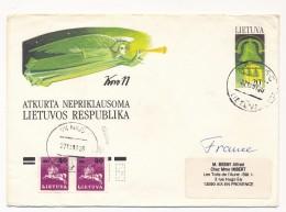 LITUANIE - 8 Enveloppes - Entiers Postaux Oblitérées, Dont Affranchissements Complémentaires - Lituania