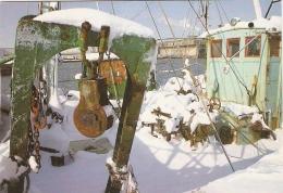 Carte De Saint-Nazaire, Le Port De Pêche Sous La Neige, Photo Macel, écrite En 1989, Bon état, Chalutier - Saint Nazaire