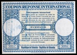 COLOMBIA / COLOMBIE London Type XVIn  $2,20 / 35 CENTAVOS  International Reply Coupon Reponse IAS IRC - Kolumbien
