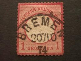 """ALLEMAGNE - EMPIRE  (o)  De  1872     """"   Aigle Avec Petit écusson   """"   N°  4     1 Val. - Allemagne"""