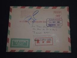 MADAGASCAR - Enveloppe En Recommandée De Manakara Pour La France En 1963 , Affranchissement Mécanique - A Voir - L 445 - Madagascar (1960-...)