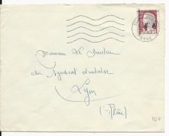 1962 - ETAT ALGERIEN - ENVELOPPE De SOUK AHRAS Avec TIMBRE FRANCAIS MARIANNE DECARIS SURCHARGE - Algérie (1924-1962)