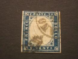 """ITALIE - SARDAIGNE  (o)  De  1855 / 61     """"   Effigie  En  Relief   """"   N° 12            1 Val. - Sardaigne"""