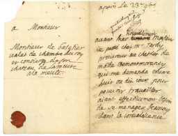 MONTMORENCY. L.A.S. Montmorency Vers 1680 à Monsieur De Basetier, Valet De Chambre Du Roy - Historical Documents
