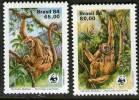 BRESIL,  WWF, SINGES, Yvert 1672/73** Neuf Sans Charniere. MNH - W.W.F.