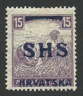 Yugoslavia, 15 F. 1918, Sc # 2L5, Mi # 63, MH - 1919-1929 Kingdom Of Serbs, Croats And Slovenes