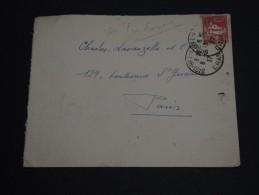 FRANCE / ALGÉRIE - Enveloppe De Sidi Bel Abbés Pour Paris En 1937 , Petite Variété Sur Le Timbre - A Voir - L 451 - Algérie (1924-1962)