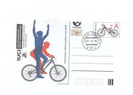 Czech Republic 2016 - World Championchip In Mountain Bike, Scpecial Postal Stationery, Day Cancellation - Mountain Bike