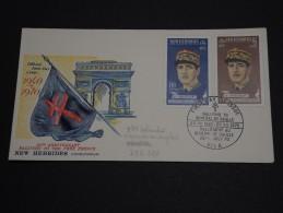 NOUVELLES HÉBRIDES - Enveloppe 1er Jour En 1970 - Général De Gaulle- A Voir - L 453 - FDC