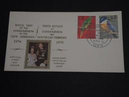 NOUVELLES HÉBRIDES - Enveloppe 1er Jour En 1974 - Oiseaux - A Voir - L 454 - FDC