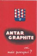 Petit Dépliant Publicitaire/Automobile / Lubrifiant/ANTAR GRAPHITE/Liste Numéros Minéralogiques /vers 1945-50   AC127 - Automobile