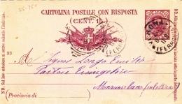 Postkarte Fil. C 19/93 D Von Roma Nach Monsambano (l005) - 1878-00 Umberto I