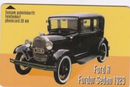 Finland, TTL-D-360A, Ford A Fordon Sedan 1929, 2 Scans.   Code 7020, Exp. : 12/99 - Finlande