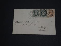 BELGIQUE - Enveloppe De Bruxelles Pour Nancy En 1884 - A Voir - L 472 - 1883 Leopold II