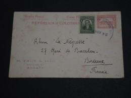 COLOMBIE - Entier Postal De Bogota Pour La France En 1922 - A Voir - L 474 - Colombie
