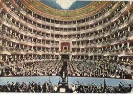 Milano, Teatro Alla Scala Interior Old Postcard Travelled 1970 D160620 - Opéra