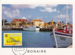 D24070 CARTE MAXIMUM CARD 1994 NETHERLANDS ANTILLES - BONAIRE LOCAL HOUSES CP ORIGINAL - Architecture
