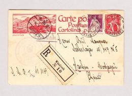 Schweiz Bildpostkarte 20Rp #104.025 Julier-Pass Einschreiben 17.5.1926 Windisch Nach Harbin China - Entiers Postaux