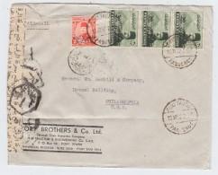 Egypt/USA PAQUEBOT AIRMAIL COVER CENSORED 1952 - Poste Aérienne