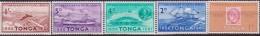 Tonga 1961 SG115 75th Anniversary Tongan Postal Service Ships Airplane.. 5 V, MNH - Barche