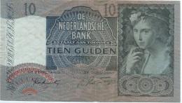 DeNederlandische Bank/PAYS-BAS/ Tien Gulden// 1942       BILL138 - [2] 1815-… : Kingdom Of The Netherlands