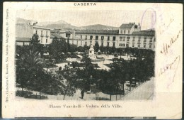 CASERTA - Piazza Vanvitelli - Veduta Della Villa - Cartolina Postale Italiana Viaggiata-piccola - Come Da Scansione - Caserta