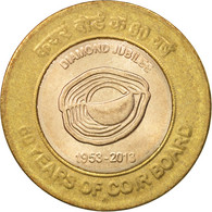 India, 10 Rupees, 2013, SUP, Bi-Metallic - India