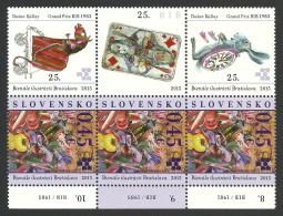 Slovakia, 0.45 E. 2015, MNH, Card, Rabbit, Horse - Slovakia