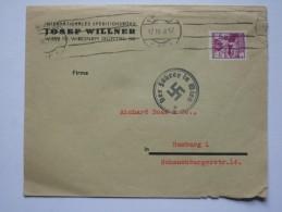 AUSTRIA 1938 COVER TO HAMBURG WITH `DER FUHRER IN WIEN` CACHET - 1918-1945 1st Republic
