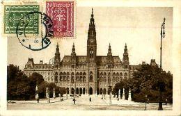 Cpa AUTRICHE - WIEN - Rathaus - Timbres - Non Classés
