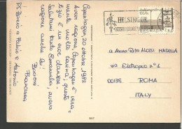 DAN4-STORIA POSTALE,-  DANMARK, DANIMARCA,  HELSINGOR---ROMA, ITALY,  GUERRIERO, - Militaria